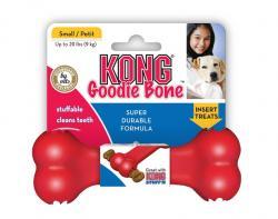 Kong - Kong Köpek Kırmızı Kauçuk Oyuncak Kemik S 13,5cm
