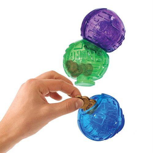Kong Ödüllü Köpek Oyuncağı, Üç Top Lock-It 12cm