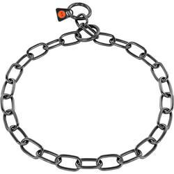 Sprenger - Sprenger Kürk Koruyucu Paslanmaz Çelik Siyah 3mm/72cm Köpek Tasma, Orta Boy Bakla