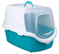 Trixie - Trixie Kedi Kapalı Tuvalet, 40×40×56cm, Akuamarin