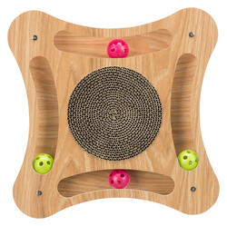 Trixie Kedi Karton ve Ahşap Tırmalama, Kediotlu ve Oyun Toplu, 35x4x35cm - Thumbnail