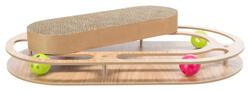 Trixie Kedi Karton ve Ahşap Tırmalama, Kediotlu ve Oyun Toplu, 46x4x25cm - Thumbnail