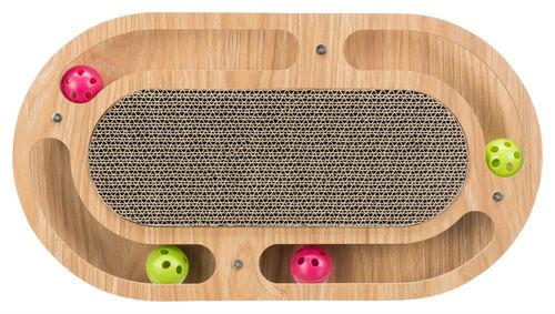 Trixie Kedi Karton ve Ahşap Tırmalama, Kediotlu ve Oyun Toplu, 46x4x25cm