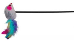 Trixie - Trixie Kedi Oltası, Ucunda Peluş Fare 50cm