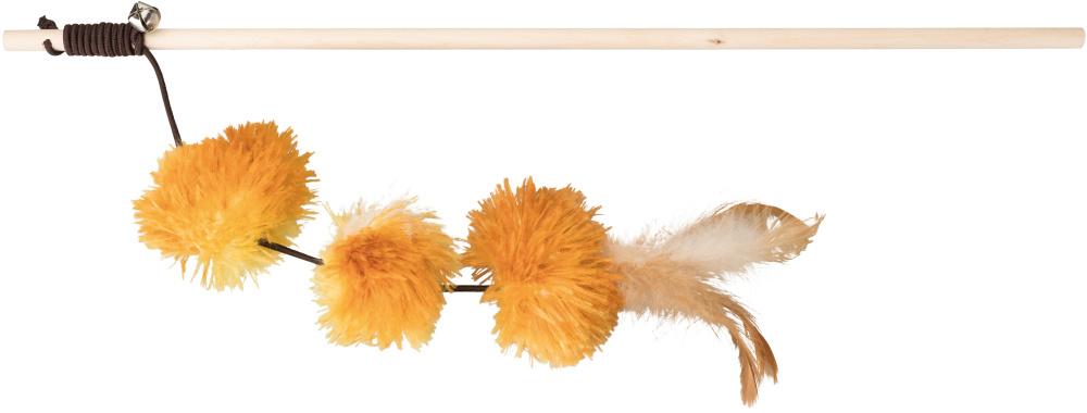 Trixie - Trixie Kedi Oltası ve Oyuncağı, Peluş Pompom Toplu, Valerianlı, 40cm