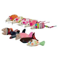 Trixie - Trixie Kedi Oyuncağı, Fare/Balık, Kedi Otlu 9-12cm