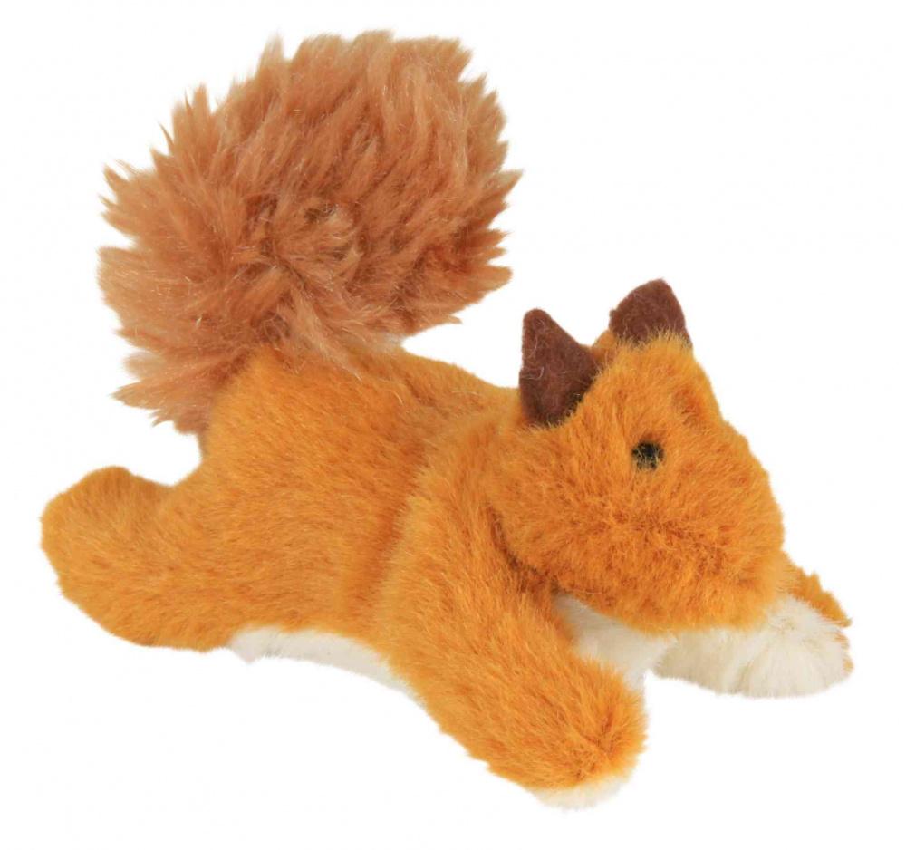 Trixie - Trixie Kedi Oyuncağı, Peluş Sincap, Kediotlu, 9cm