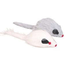Trixie - Trixie Kedi Oyuncağı, Tüylü Sesli Peluş Fare 9cm