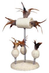 Trixie - Trixie Kedi Oyuncağı Yaylı Toplar, Tüyler 15X30cm