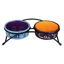 Trixie - Trixie Kedi Seramik Mama Su Kabı Seti 2×0.3Lt