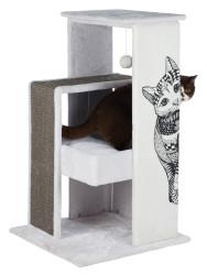 Trixie - Trixie Kedi Tırmalama Oyun Evi, 101cm, Beyaz/Gri