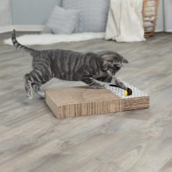 Trixie - Trixie Kedi Tırmalaması, Oyuncaklı, 38X30cm Beyaz