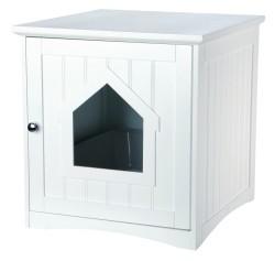Trixie - Trixie Kedi Tuvalet Evi, 49X51X51cm Beyaz