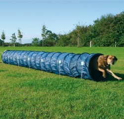 Trixie - Trixie Köpek Agility Eğitim Tüneli, Mavi Ø60cm/5M.