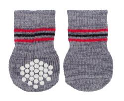 Trixie - Trixie Köpek Çorabı, 2 Adet, Kaymaz, L-XL, 2 Adet, Gri
