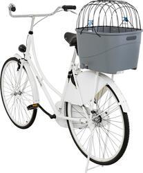 Trixie - Trixie Köpek İçin Bisiklet Arkası Sepeti, Plastik ve Metal, 36X47X46cm, Gri