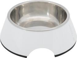 Trixie - Trixie Köpek Mama ve Su Kabı, Melamin/Paslanmaz Çelik, 0.2lt/ø14cm, Beyaz
