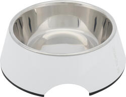 Trixie - Trixie Köpek Mama ve Su Kabı, Melamin/Paslanmaz Çelik, 0.4lt/ø17cm, Beyaz