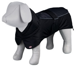 Trixie - Trixie Köpek Paltosu L 55cm Siyah/Gri