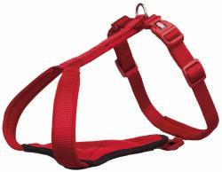 Trixie - Trixie Köpek Premium Göğüs Tasması, L-XL:85-105cm/25mm, Kırmızı