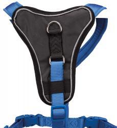 Trixie - Trixie Köpek Premium Göğüs Tasması, S-M:50-60cm/15mm, Mavi