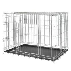 Trixie - Trixie Köpek Taşıma Galvaniz Kafes, 64X54X48cm