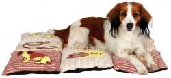Trixie - Trixie Köpek Yastığı Ve Yatağı 80X55cm Kırmızı/Bej
