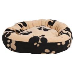 Trixie - Trixie Köpek Yatağı 70cm Pati Desenli Siyah-Bej