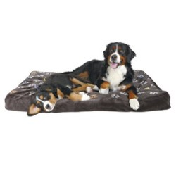 Trixie - Trixie Köpek Yatağı 80X55cm, Pati Desenli Gri