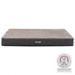 Trixie - Trixie Köpek Yatağı, Ortopedik, 100x65cm, Koyu Gri/Açık Gri