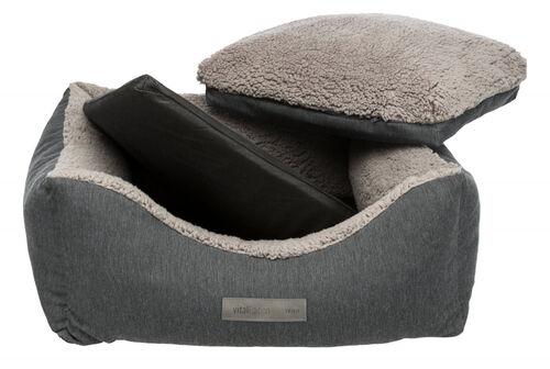 Trixie Köpek Yatağı, Ortopedik, 70x60cm, Koyu Gri/Açık Gri