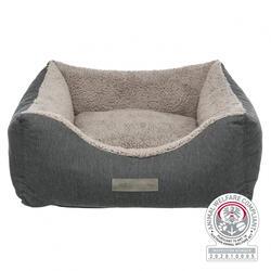 Trixie - Trixie Köpek Yatağı, Ortopedik, 90x80cm, Koyu Gri/Açık Gri