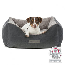 Trixie Köpek Yatağı, Ortopedik, 90x80cm, Koyu Gri/Açık Gri - Thumbnail