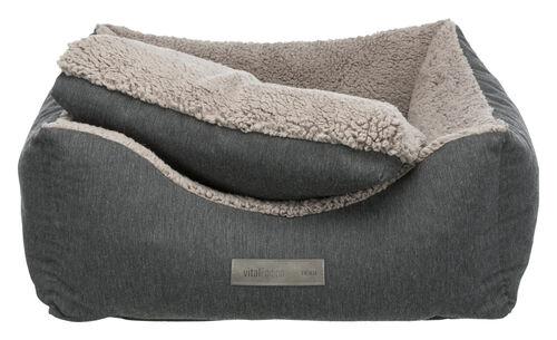 Trixie Köpek Yatağı, Ortopedik, 90x80cm, Koyu Gri/Açık Gri