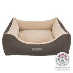 Trixie - Trixie Köpek Yatağı, Ortopedik, 90x80cm, Koyu Kahve/Bej