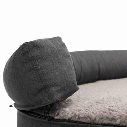 Trixie Köpek Yatağı ve Sofası, Ortopedik ve Oval, 100x80cm, Koyu Gri/Açık Gri - Thumbnail