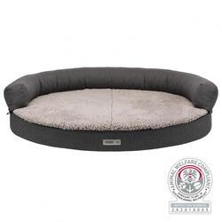 Trixie - Trixie Köpek Yatağı ve Sofası, Ortopedik ve Oval, 75x60cm, Koyu Gri/Açık Gri
