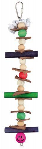 Trixie Kuş Oyuncağı, Ahşap ve Derili, 28cm