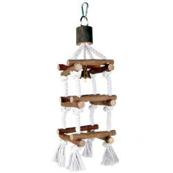 Trixie - Trixie Kuş Tüneği, Doğal, İpli Kule, 34cm