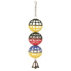 Trixie - Trixie Muhabbet Kuşu Oyuncağı, Zilli Toplar 4, 5cm