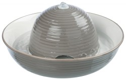 Trixie - Trixie Seramik Otomatik Su Kabı, 1.5Lt, Gri/Beyaz